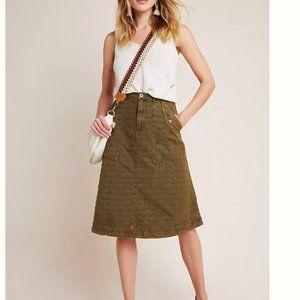 NWOT aubrey textured green utility skirt w/pockets